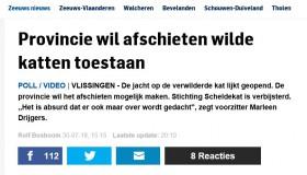 Petitie tegen het afschieten van Zwerfkatten